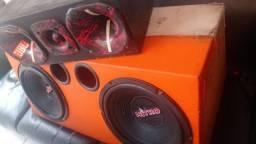 Caixa de som completa pra carro