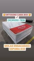 Título do anúncio: CAMA CASAL MOLAS ENSACADAS
