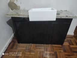 Título do anúncio: Kit pia de banheiro toda no inox e mármore