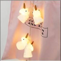 Título do anúncio: Cordão Fio De Luz Led Unicórnio Para Decoração Luminária À Pilha/Cordão de led com 10