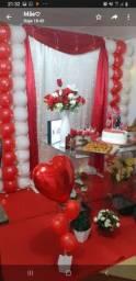 Trabalhamos com ornamentação de aniversário e casamentos