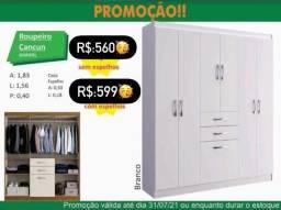 Título do anúncio: guarda roupa cancun branco na promoçao !!! com montagem gratis