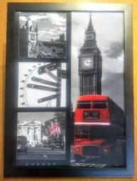 Quadro 3D com os pontos turísticos de Londrrs