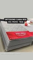 Título do anúncio: !!CAMA BOX CASAL MOLAS ENSACADAS+ ESPUMA D33 PILLOW TOP ENTREGA GRÁTIS