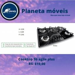Título do anúncio: Cooktop 5b preto promoção!!!! BIJUTERIAS BIJUTERIAS BIJUTERIAS