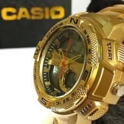 272da86d6ec Relogio Casio Edifice Dourado Funcional