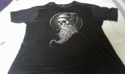 Camisa camiseta masculina T-short caveira barba top paguei 70 não me serviu  faço por 5883731c8b9d4