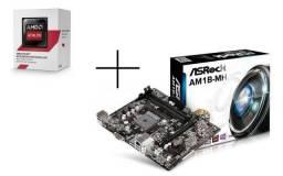 Processador Athlon 5150 Quadcore ( placa de video integrada ) + Placa Mãe Asrock Am1b-mh