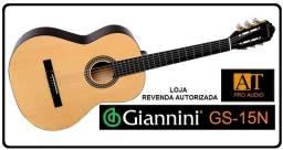 Giannini GS-15N Violão Nylon Natural novo na caixa loja AT Proaudio RJ zap: *