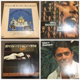 Disco Vinil-10 discos CHICO BUARQUE
