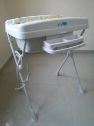 Banheira com trocador para bebê