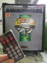 Caixa de som com controle Hayonik 800 multiuso USB Cartão SD