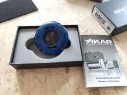 Cortador Charuto Xikar Xo X0 Azul Com Lâmina Negra