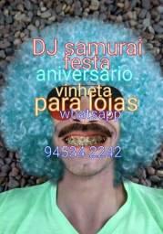DJ Samurai festa aniversário e vinheta para loja de carro de ruas