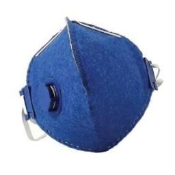 Máscara descartável pff1 com válvula (Pacote com 10 unidades)