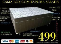 Cama Box Com Espuma Selada D33 com certificação do Inmetro 138x188x62