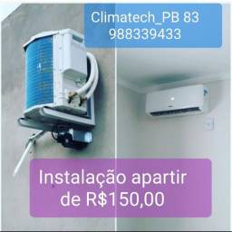 Instalação apartir ar condicionado a partir de  R$ 150