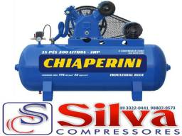 Compressor de ar 15 pés 175 libras 200L Monofasico