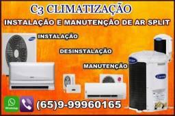 Instalação ar condicionado split e manutenção