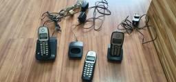 Telefone sem fio base mais 2 ramais Siemens 6.0. Aceito cartão