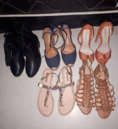 5 pares de sapatos