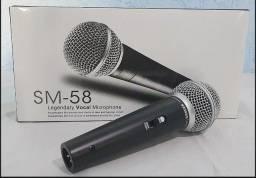 Microfone com fio - sm-58 novo