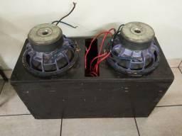 2 Shocker de 1200 rms bobina dupla 4+4