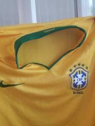 Camiseta seleção brasileira tamanho g<br>Masculina<br>