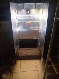 Estufa Grow completo com ventilação, timers e medidor de temperatura