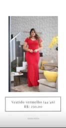 Vestido de festa vermelho (42/44/46) - temos outros modelos disponíveis