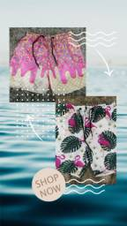 Bermudas moda praia masculina