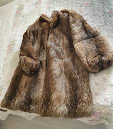 Casaco de pele coelho/ marca Polo Norte