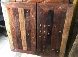 Bancadas de banheiro de madeira, cruzetas