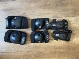 Proteção para patins e skate. Uso infantil.