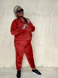 Casaco ECO Velvet - Vermelho Fendi