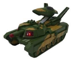 Brinquedo Tanque E Aeronave Militar 2 Em 1 Automático Pilhas