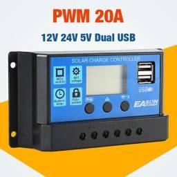 Controlador solar pwm 12v 24v 20a