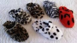 chinelos pantufas de lã revenda atacado para lojas preço unico