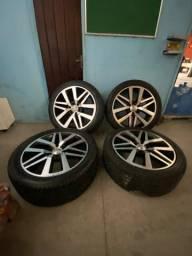 Vendo pneus e rodas aro 22