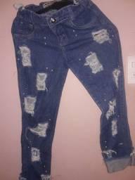 Título do anúncio: Vendo calça jeans feminina cintura alta número 34,36