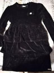 Vestido preto de plush