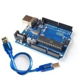 Título do anúncio: Compativel Arduino Uno Dip Atmega328p R3 C/ Cabo Usb