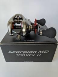 Carretilha Shimano® Scorpion MD 300XGLH - Lançamento 2021