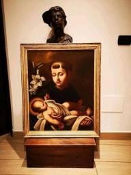 Quadro Santo Antônio pintura a óleo