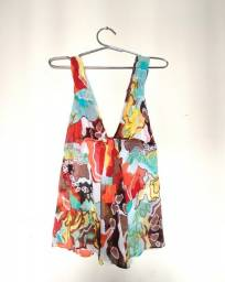 Título do anúncio: Blusa seda importada Diane Von Fustenbergh