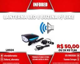 Título do anúncio: Lanterna Led e Buzina para Bike LK024 - R$50,00