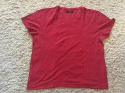 Título do anúncio: Camiseta Aramis Original Cor Vermelha Gola V Tamanho M Impecável Excelente Estado Barbada!