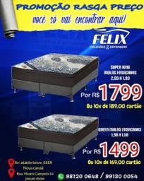 Venha nas Lojas Felix estamos com uma Mega promoção de super king mola ensacada