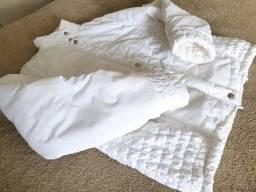 Casaco branco, marca naguchi