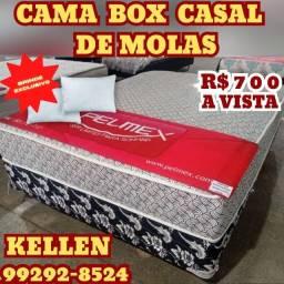 Título do anúncio: Cama Casal Molas + 2 Travesseiros -Brinde %%